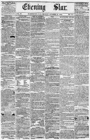 Evening Star Gazetesi 30 Ekim 1854 kapağı