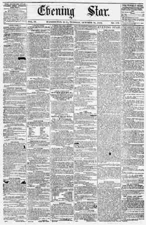 Evening Star Gazetesi 31 Ekim 1854 kapağı