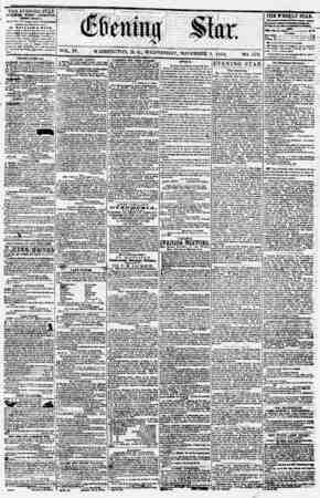 Evening Star Gazetesi 1 Kasım 1854 kapağı