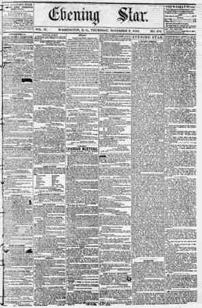 Evening Star Gazetesi 2 Kasım 1854 kapağı
