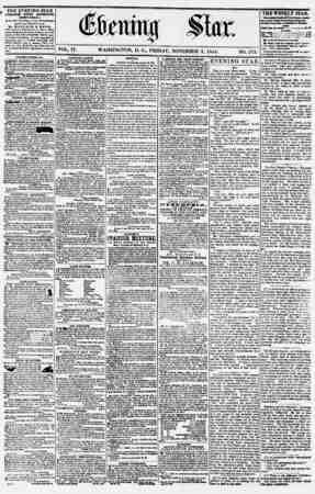 Evening Star Gazetesi 3 Kasım 1854 kapağı