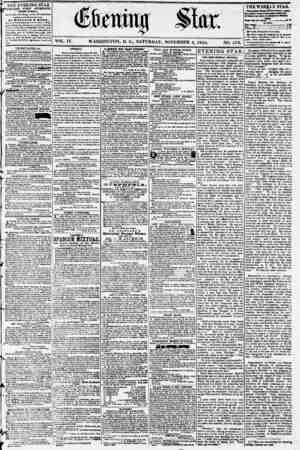 Evening Star Gazetesi 4 Kasım 1854 kapağı