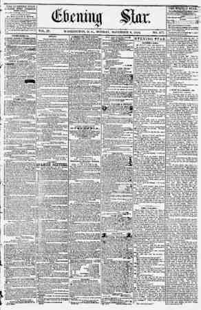Evening Star Gazetesi 6 Kasım 1854 kapağı