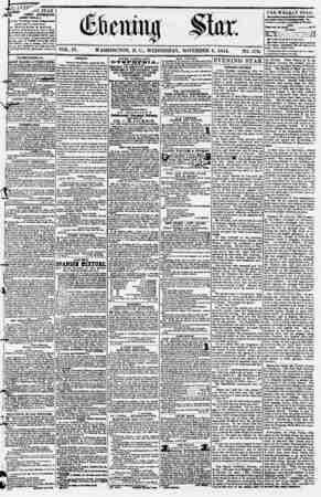 Evening Star Gazetesi 8 Kasım 1854 kapağı