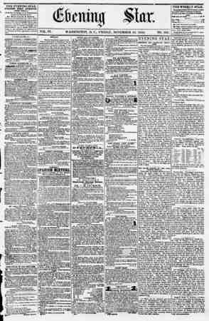 Evening Star Gazetesi 10 Kasım 1854 kapağı