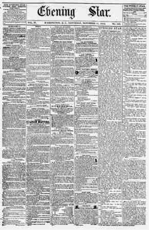 Evening Star Gazetesi 11 Kasım 1854 kapağı