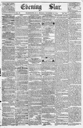Evening Star Gazetesi 13 Kasım 1854 kapağı