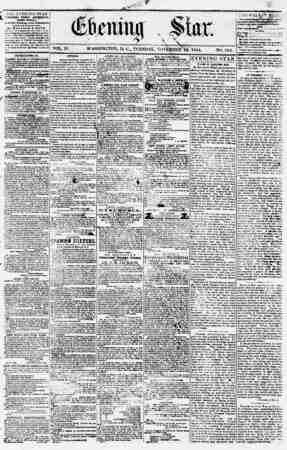 Evening Star Gazetesi 14 Kasım 1854 kapağı
