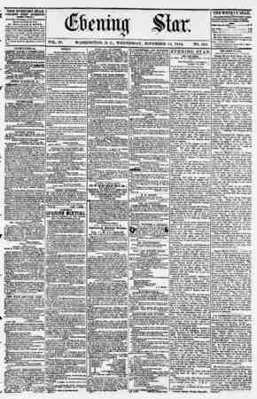 Evening Star Gazetesi 15 Kasım 1854 kapağı