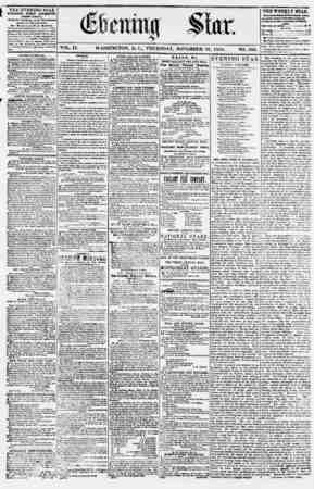 Evening Star Gazetesi 16 Kasım 1854 kapağı