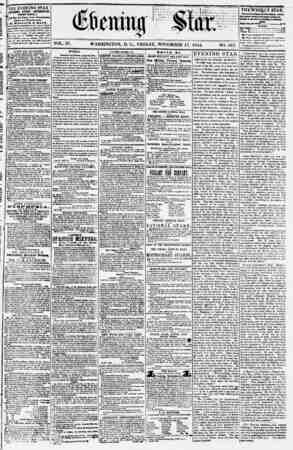 Evening Star Gazetesi 17 Kasım 1854 kapağı