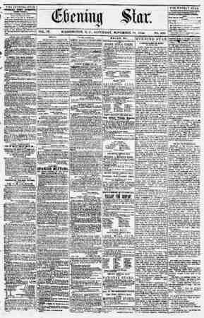 Evening Star Gazetesi 18 Kasım 1854 kapağı