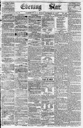 Evening Star Gazetesi 20 Kasım 1854 kapağı