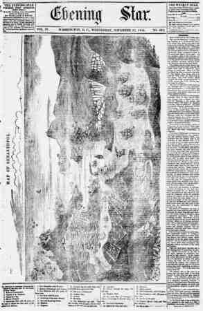 Evening Star Gazetesi 22 Kasım 1854 kapağı