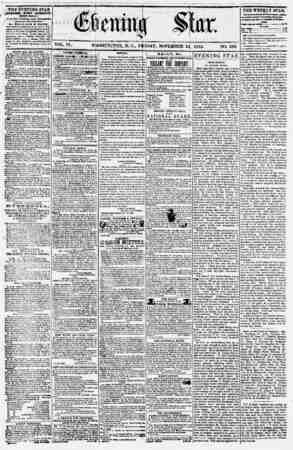 Evening Star Gazetesi 24 Kasım 1854 kapağı