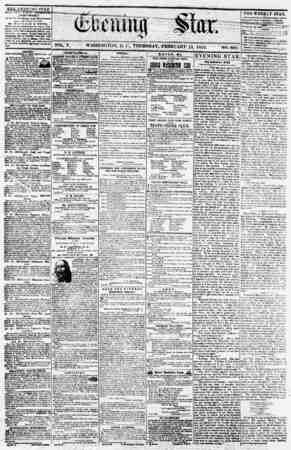 "VOL. V. WASHINGTON, I). 0., THURSDAY, FEBRUARY 15, 1855. NO. 661. thK j-'yf->, vo star puri.: -''t? ft rrr?'T""AfT?(WTvn? ;"