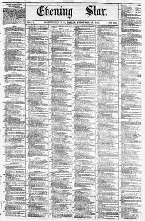 "VOL. V. WASHINGTON, D. C., FRIDAY, FEBRUARY 16, 1855. NO. 662. CSHED STATXS MAIl* ^ onto ""ggSSfow*-} ? - - tv? m?a? of ?? om"