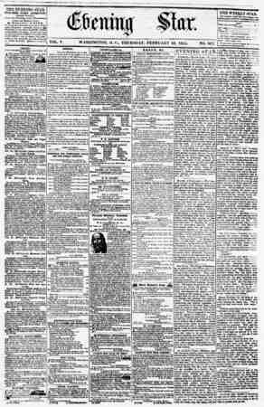 THE EVENING STAR PUBLISHED EVERY AFTERNOON, (EXCEPT SUNDAY.) At the Star Building, comer Pennsylvania cvenue and Blevntk...
