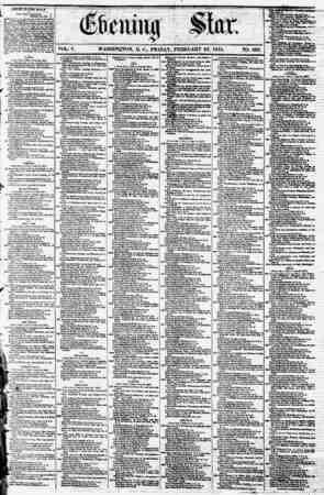 VOL. V. WASHINQTON, D. C., FRIDAY, FEBRUARY 23, 1855. NO. 668. p tTSITEf> STATfS MATLS. Foot Cukj Dapaatjaurr ) February...