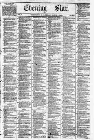 VOL. V. WASHINGTON, D. C., FRIDAY, MARCH 2, 1855. NO. ?74. . \ .1 . > : I i fc_ 1 ! 'i . IM H *3 *' <? *? *? UNITED STATfS