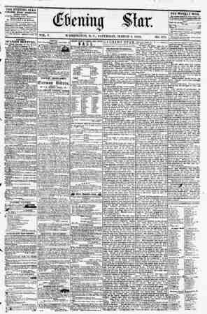 THE EVENING STAR PUBLISHED 1VERY AFTERNOON. tEICBPT BWDAY,) At the Star Building, corner Pennsylvania avenue and Eleventh,