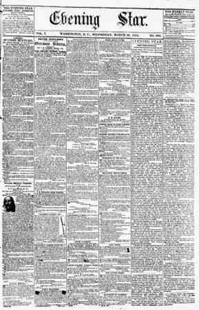 THE EVENING STAR PUBLISHED EVERY AFTERNOON, h (EXCEPT SUNDAY.) JU th' Star Building, r or tier Pennsylvania c%viiu4 and...