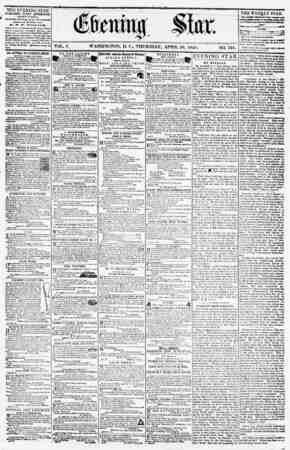 THE EVENING STAR PUBLISHED EVERY AFTERNOON, (EXCEPT SUNDAY.) At th* Star BuiltUng, corner Pennsylvania awnn* and Eleventh...