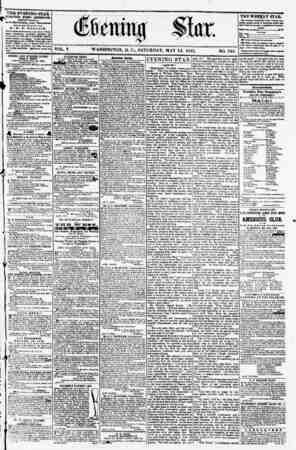 THE EVENING STAR * PUBLISHED EVERY AFTERNOON, ^ (EXCEPT SUNDAY J At the Star Building, corner Pennsylvania ?venue and...