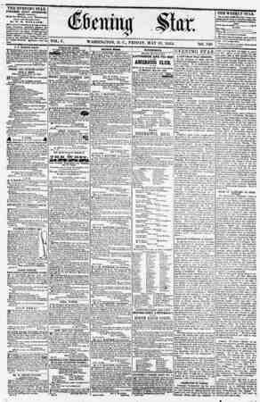 VOL. V. WASHINGTON, D. C., FRIDAY. MAY 18. 1855. NO. 740. THE EVENING STAR PI BUSHED RVERY AFTERNOON, (EXCEPT SUNDAY.) Ai tA4