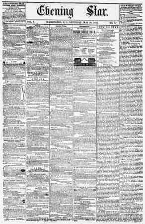 VOL. V. ^ WASHINGTON, D. C., SATURDAY. MAY 26. 1855. NO. 747. (EXCEPT ?UNDAY.) At tk* 8tar Bxu'ding. emmgr Fmtisyivattia ?w*