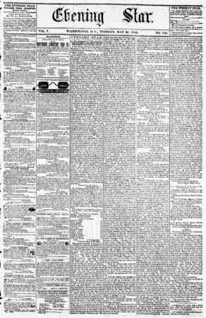 VOL. V. WASHINGTON, D, C., TUESDAY, MAY 29. 1855. NO. 749. THE EVENING STAR PUBLISHED EVERY AFTERNOON, (EXCEPT SUNDAY,) At