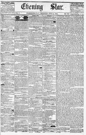VOL. V. * WASHINGTON, D. C., THURSDAY, JUNE 14. 1855. NO. 763. THE EVENING STAR PUBLISHED EVERT AITEBSOOIT, CRirmrr pcttoata