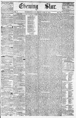 ? VOL. V. WASHINGTON, D. C., FRIDAY. JUNE 15. 1855. NO. 764. THE EVENING STAR PUBLISHED EVERY AFTERNOON, (EXCEPT 3CNDAYJ At