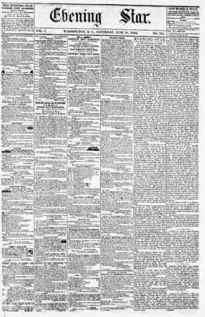 VOL. V. WASHINGTON, D. C., SATURDAY, JUNE 16. 1855. THE EVENING STAR PUBLISHED EVERY AFTERNOON, lEXCEPT SUNDAYJ At tiu Star