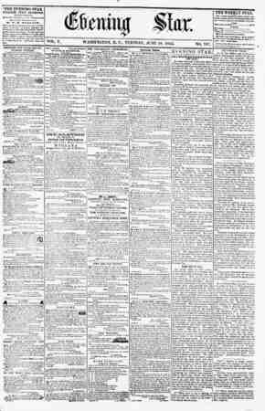 WASHINGTON, TUESDAY. JUNE 19. 1855. < THE EVENING STAR PUBLISHED EVERY AFTERNOON, (EXCEPT ?UNI>AY.) At tk<s S'.ar Building.