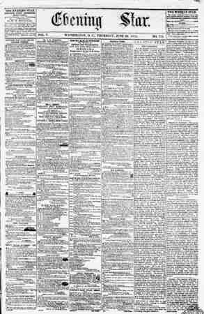 THE EVENING STAR PUBLISHED EVERT AFTERNOON, (EXCEPT SUNDAY.) 41 tkt Stmr rontMr Pmnn/lvawf mr* - 13 nnl E'*r**tk ny w. n....