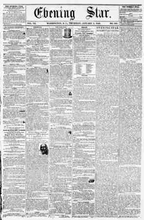 VOL. VII. WASHINGTON. D. G, THURSDAY, JANUARY 3, 1856. NO. 935. THE EVENING STAR, PUBLISHED tVERY AKTKRNOON, (EXCEPT SUNDAY,)