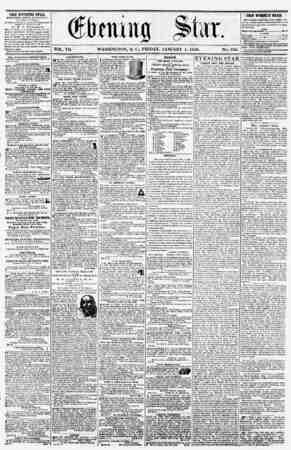 t VOL. V1L WASHINGTON, D. C, FRIDAY, JANUARY 4, 1856. NO. 936. THE EVENING STAB. n'RLIHHCD ITFRT APTKHNOdfl, (E\CRPT SUNDAY,)