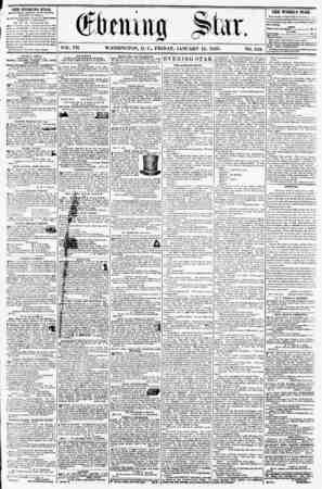 VOL. VII. WASHINGTON, D. C., FRIDAY, JANUARY 11, 1856. NO. 912. THE EVENING STAB, Ft KLIMIKU EVERY AFTER NOON, (EXCEPT...