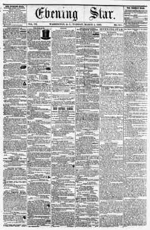 VOL. VII. WASHINGTON, D. C.. TUESDAY. MARCH 4, 1856. NO. 957. THE EVENING STAB, WBLISHED EVERY AFTERNOON, (EXCEPT SUNDAY,) At