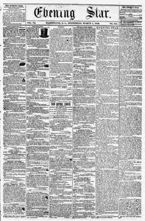 "iMMMt flip VOL. VIL WASHINGTON, D. C., WEDNESDAY. MARCH 5, 1856. NO. 958. ' ???> ?? i ""f .- . f . 4 m # ""... ? - THE EVENING"