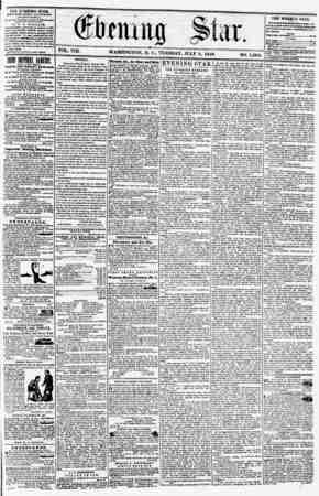 VOL. VIII. WASHINGTON. D. C., TUESDAY, JULY 8, 1856. NO. 1,065. 1 EE ZVENINQ STA&, rVBLIMIKD KVEKY AFTERNOON, (EXCEPT...