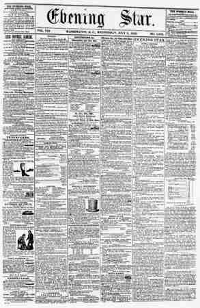 VOL. VIII. WASHINGTON, D. C., WEDNESDAY, JULY 9, 1856. NO. 1,066. THE EVENING STAB, rrHLI9l!KD EVERT A FT ICR NOON, (BXCKPT