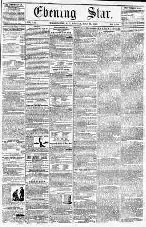 VOL. VIII. WASHINGTON, D. C., FRIDAY, JULY 11, 1856 NO. 1.06S. the evening stak, KLIAHKD evert akteksooh, (KXCEPT SUNDAY,) ..