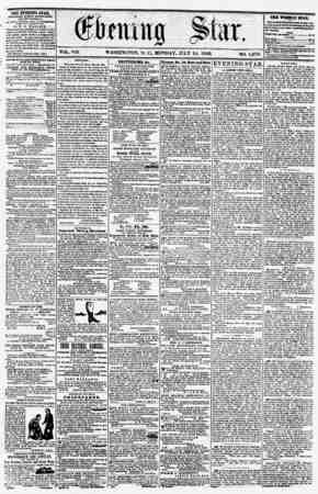 "WASHINGTON, D. C., MONDAY. JULY 14, 1S56. 1,070. the EVEITIKG STAR, PUBLISHED I??Rf ArTERNOOM, (EXCKPT SUNDAY,) At lis SI"""