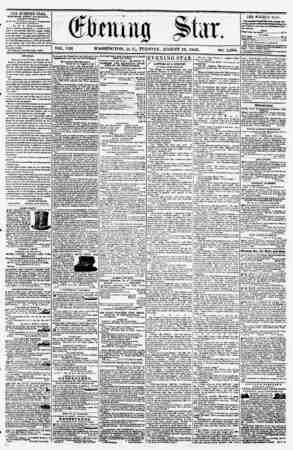 VOL. VIH WASHINGTON, I). C., TUESDAY, AUGUST 12, 1856. NO. 1,095. THE EVEWTNG STAB., fCRLUHKP CVKKT AFYEKNOON, (EXCKPT...