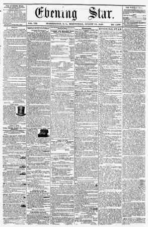 VOL. VIII WASHINGTON, 1). C., WEDNESDAY, AUGUST 13, 1856. NO. 1,096. THE EVJEJJING STA2, rDBLIAHKD KVKKT Af CKhlUUS, (EXCEPT