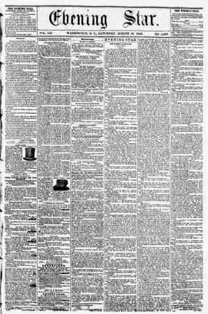 VOL. VIII WASHINGTON, D. C.. SATURDAY. AUGUST 16, 1856. NO. 1,099 THE EVENING STAB, PUBLISHED EVERT APfBR*?M>? (EXCKPT...