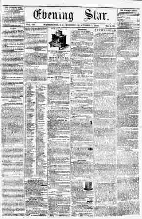 "(flieiu m Star. ' "" ? ? VOL. VIII, WASHINGTON, D. C.. WEDNESDAY. OCTOBER I, 1856. NO. I.I3S. THE EVENING STAB, ?CHLIftHKD..."