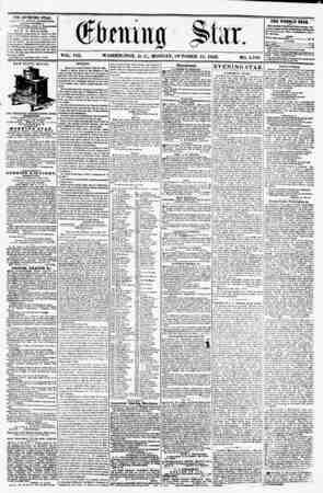 VOL. VIII. WASHINGTON, D. C., MONDAY, OCTOBER 13, 1856. NO. 1,148 * TTTR EVSWIHO STAB, fCULlc-'Kn KVSHT A FT KKNOO H,...